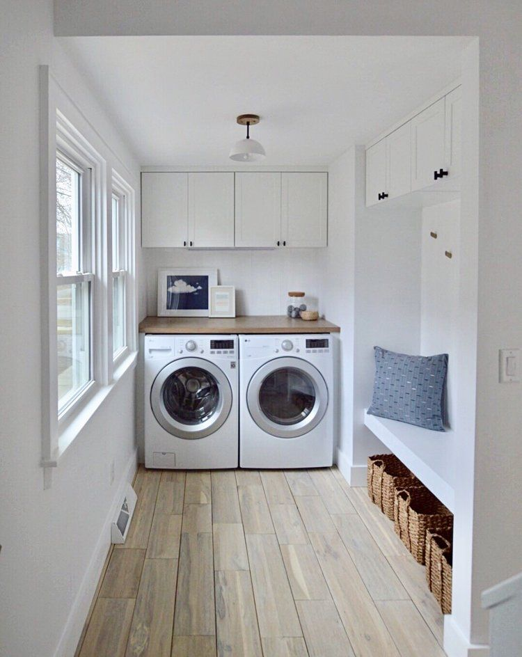Laundry Room Inspo Semihandmade Supermatte White Shaker Cabinet