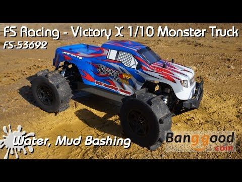 Fs Racing Fs 53692 1 10 2 4g 4wd Brushless Water Monster Truck Sale Banggood Com Monster Trucks Racing Trucks For Sale