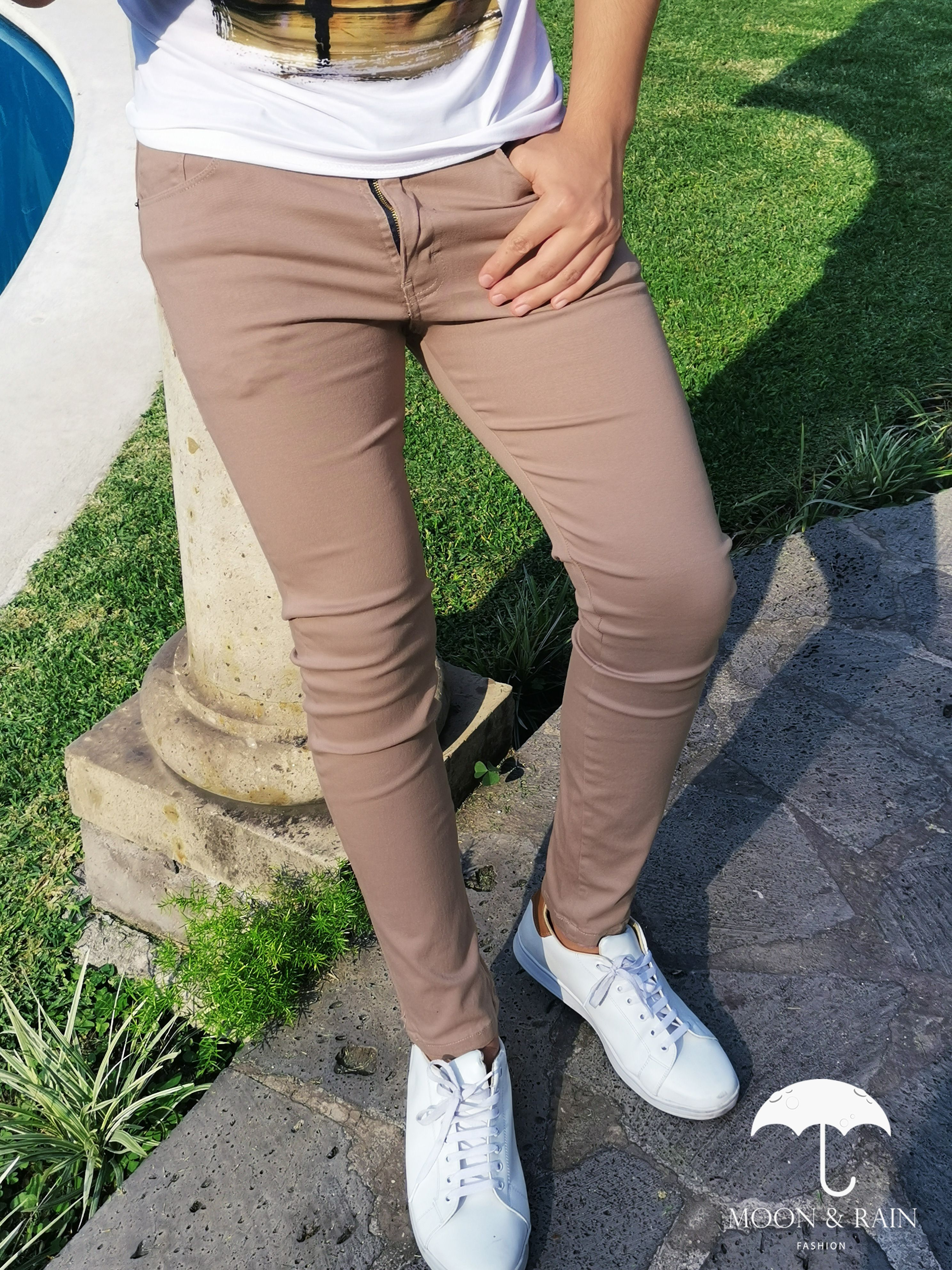 Pantalon Gabardina Beige Moda Ropa Hombre Pantalones Beige Pantalones