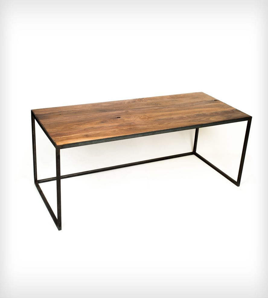 Long Wood Desk With Industrial Steel Legs | Home Furniture | Goodhand  Woodworks | Scoutmob Shoppe