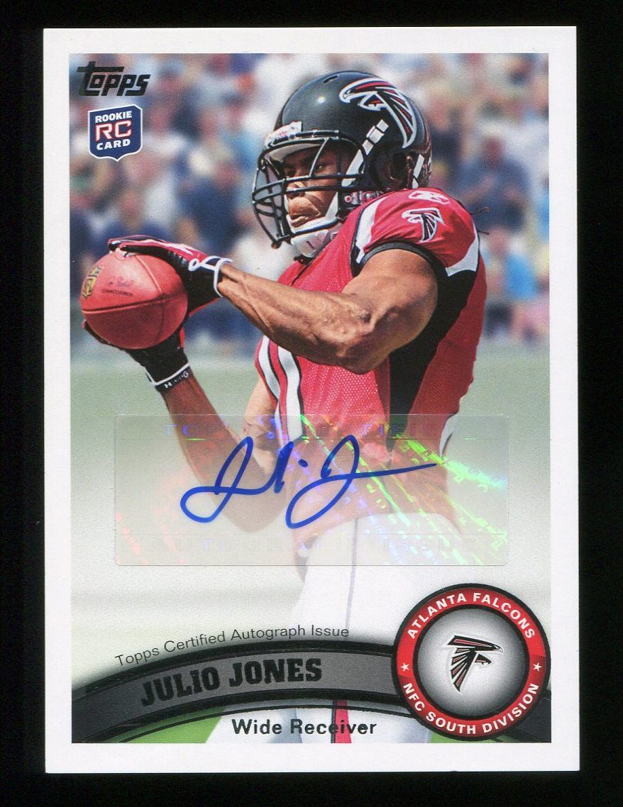 2011 Topps Julio Jones Sp Rookie Card Autograph December 2014 Julio Jones Cards Nfc South