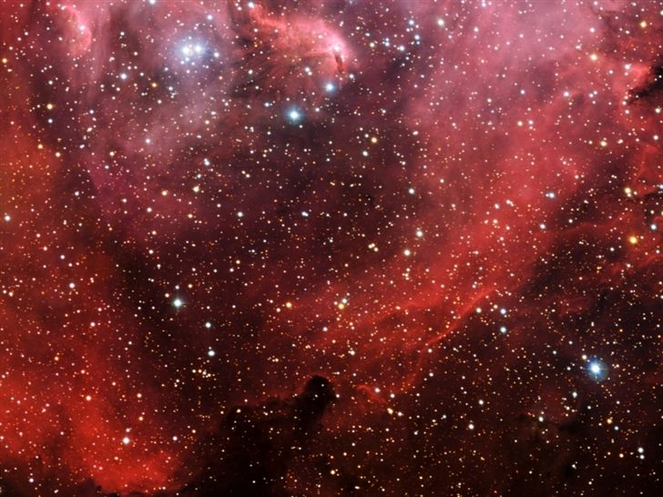 Millions Of Stars In A Red Sky Wallpaper Space Star Widescreen