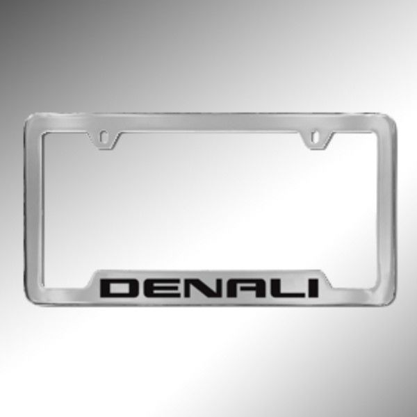A Distinctive Look Is All In The Details And This Yukon Denali License Plate Holder Fits The Frame Chrome With License Plate Frames Plate Frames License Plate
