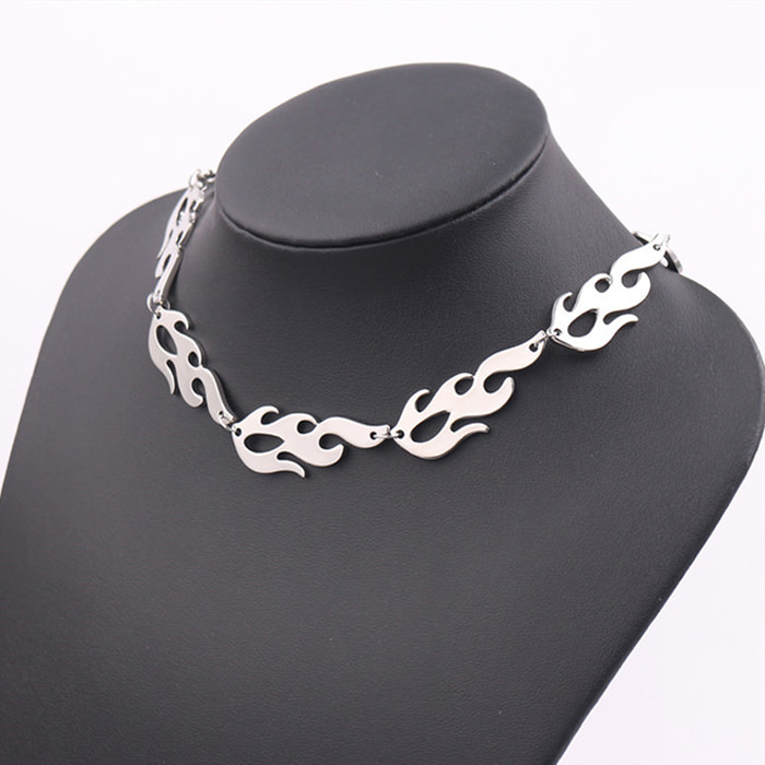 Flame Chain Soft Grunge Choker Necklace