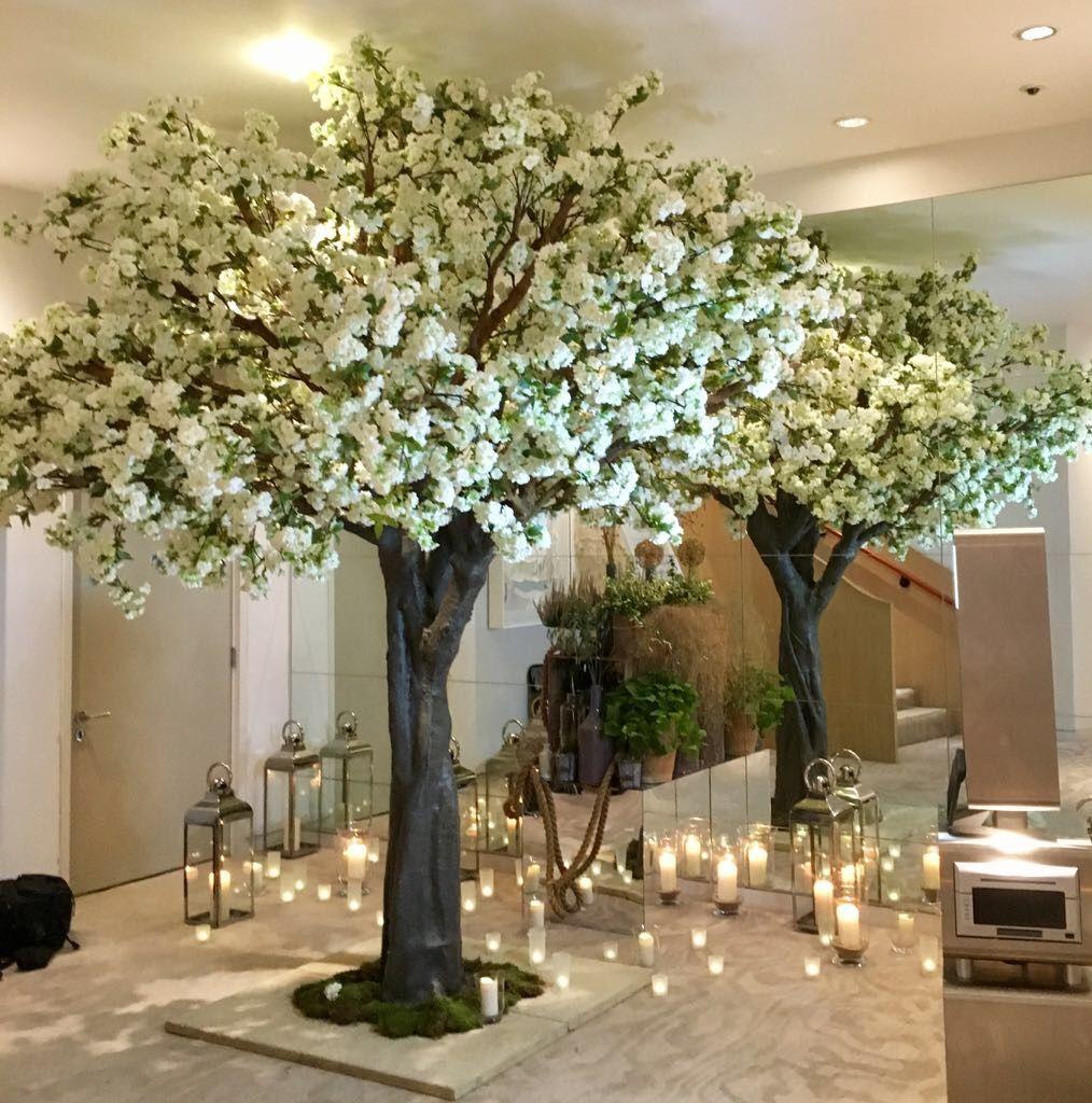 Grande White Blossom Tree For Elegant Coworth Park Wedding White Blossom Tree Blossom Trees Cherry Blossom Tree