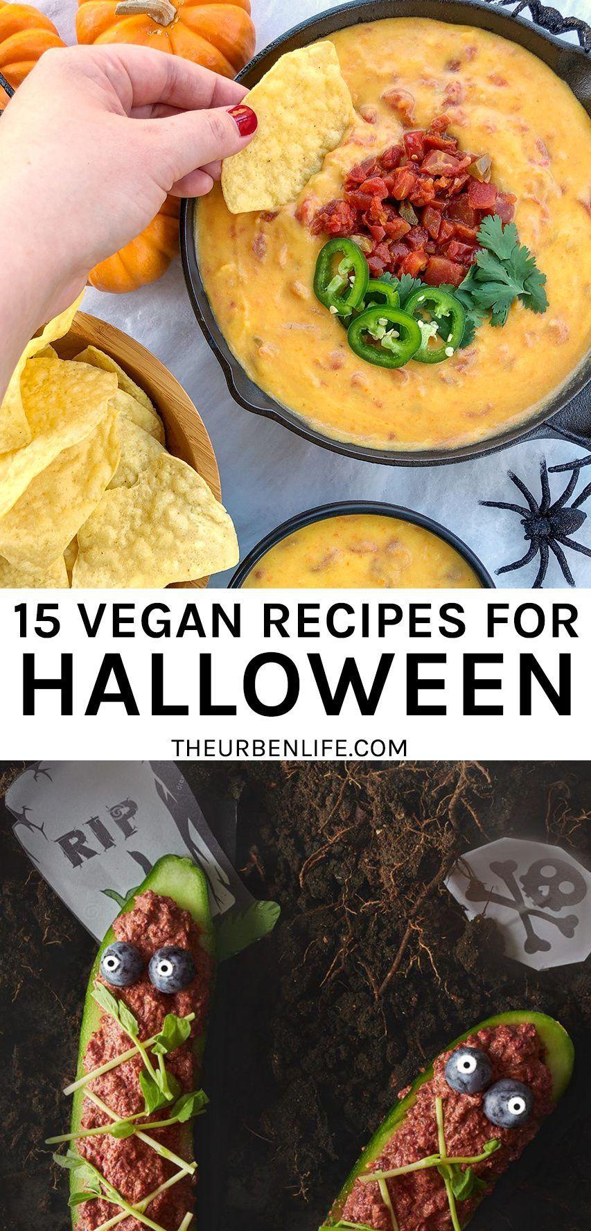 15 Vegan Halloween Recipes The Urben Life In 2020 Vegan Halloween Food Vegan Halloween Halloween Food Dinner