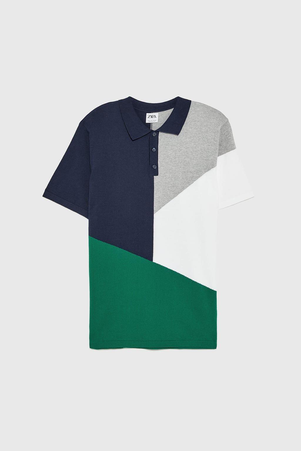 Polo color block | S T Y L E en 2019 | Polo hombre, Zara y Color