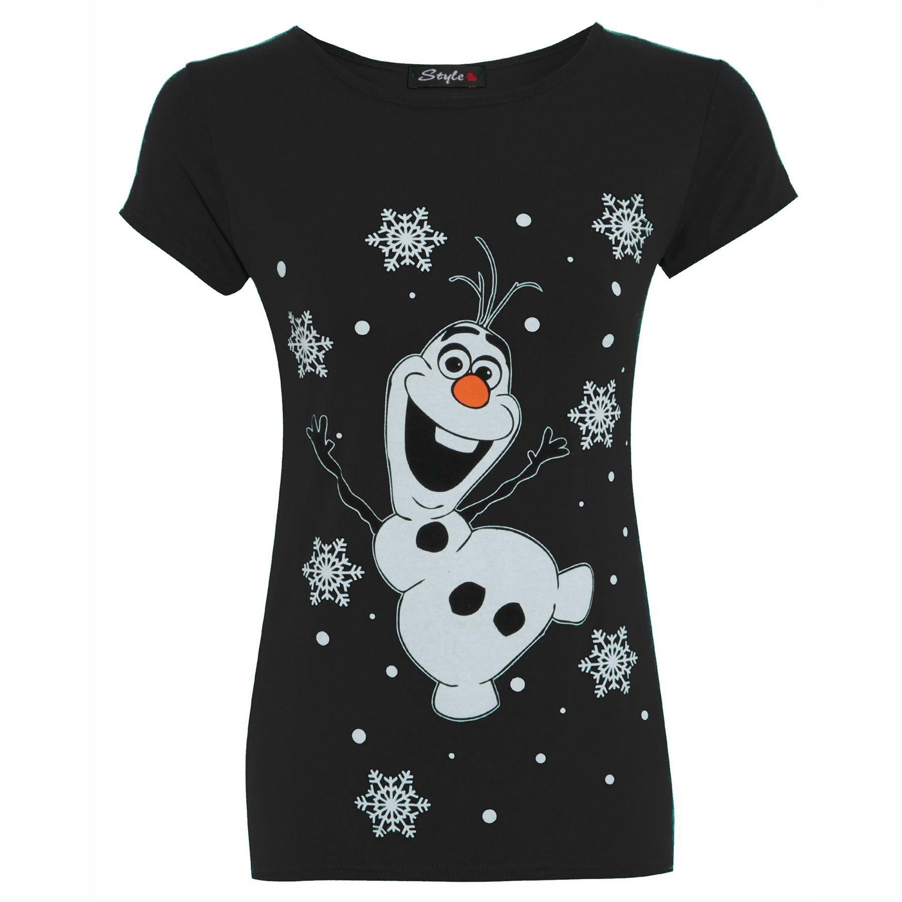 CLEARANCE SALE Womens Ladies Novelty Rudolf Olaf Frozen Christmas ...