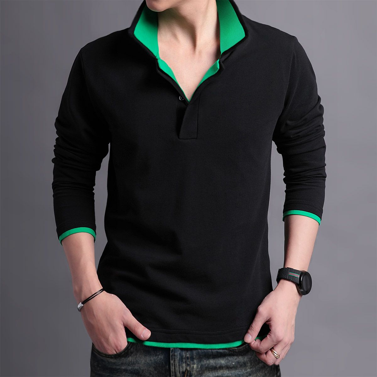 2013 new men's Autumn long-sleeved t-shirt Unit Price: $29.60 http ...