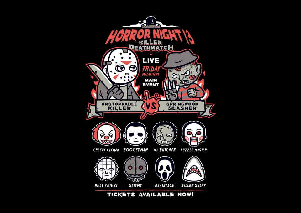 Horror Night T-Shirt - Horror Movie T-Shirt is $11 today at TeeFury!