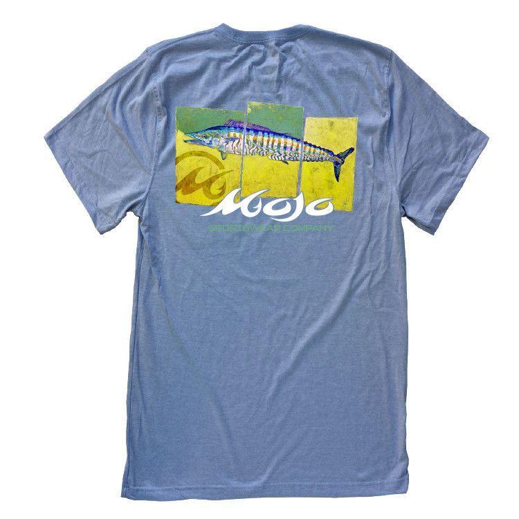 Short Sleeve Wahoo Panels Fisherman Shirt