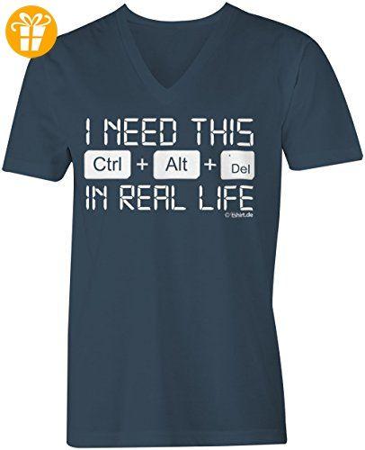 control alt delete ☆ V-Neck T-Shirt Männer-Herren ☆ hochwertig bedruckt