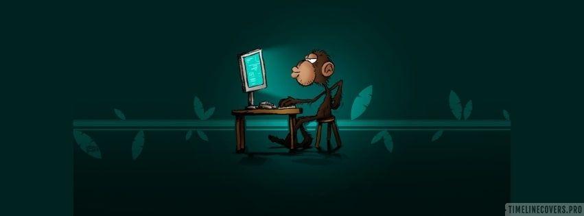 Computer Monkey Facebook Cover Facebook Cover Facebook Cover