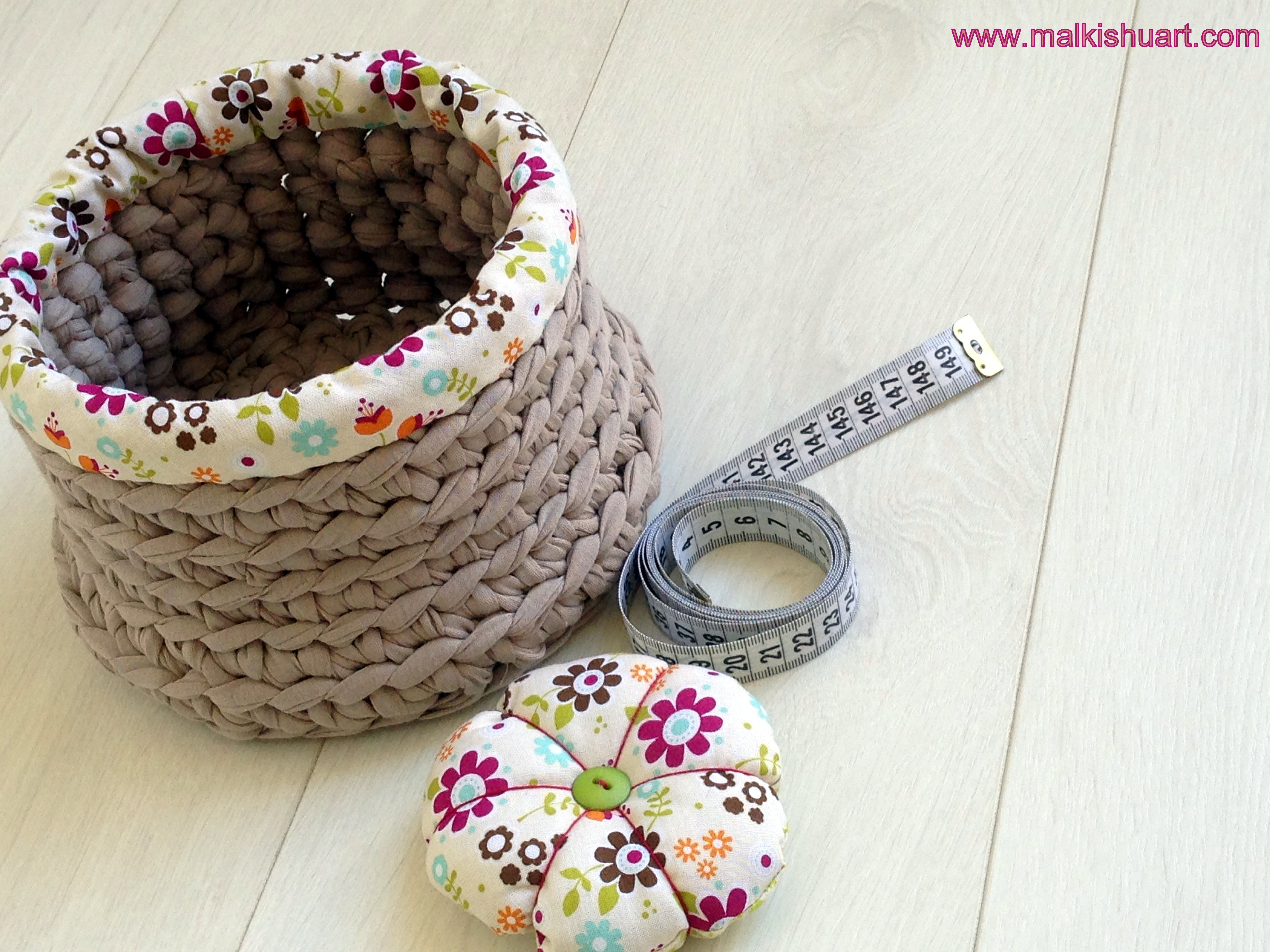 I love to combine fabrics... Made of T-Shirt yarn - Trapillo ...