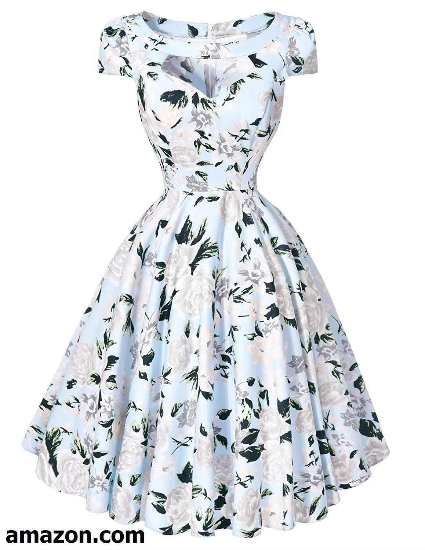 Belle Poque Women S 1950s Retro Vintage Short Sleeve Cocktail Dresses Hollowed Front Dress Summer Dresses For Women Retro Dress Rockabilly Dress [ 1500 x 1158 Pixel ]