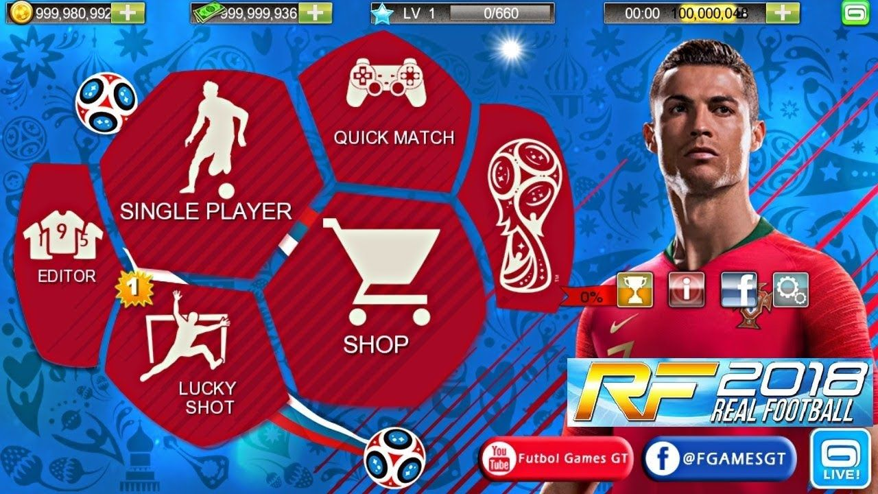 Real Football 2018 Offline Android World Cup Download Android Mobile Games Game Download Free Cell Phone Game