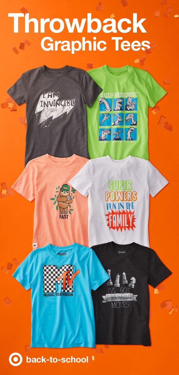 d07a26821 Graphic tees are the perfect addition to every kid's back-to-school  wardrobe. Choose from a rainbow of colors, with designs from cute to  confident to rock ' ...