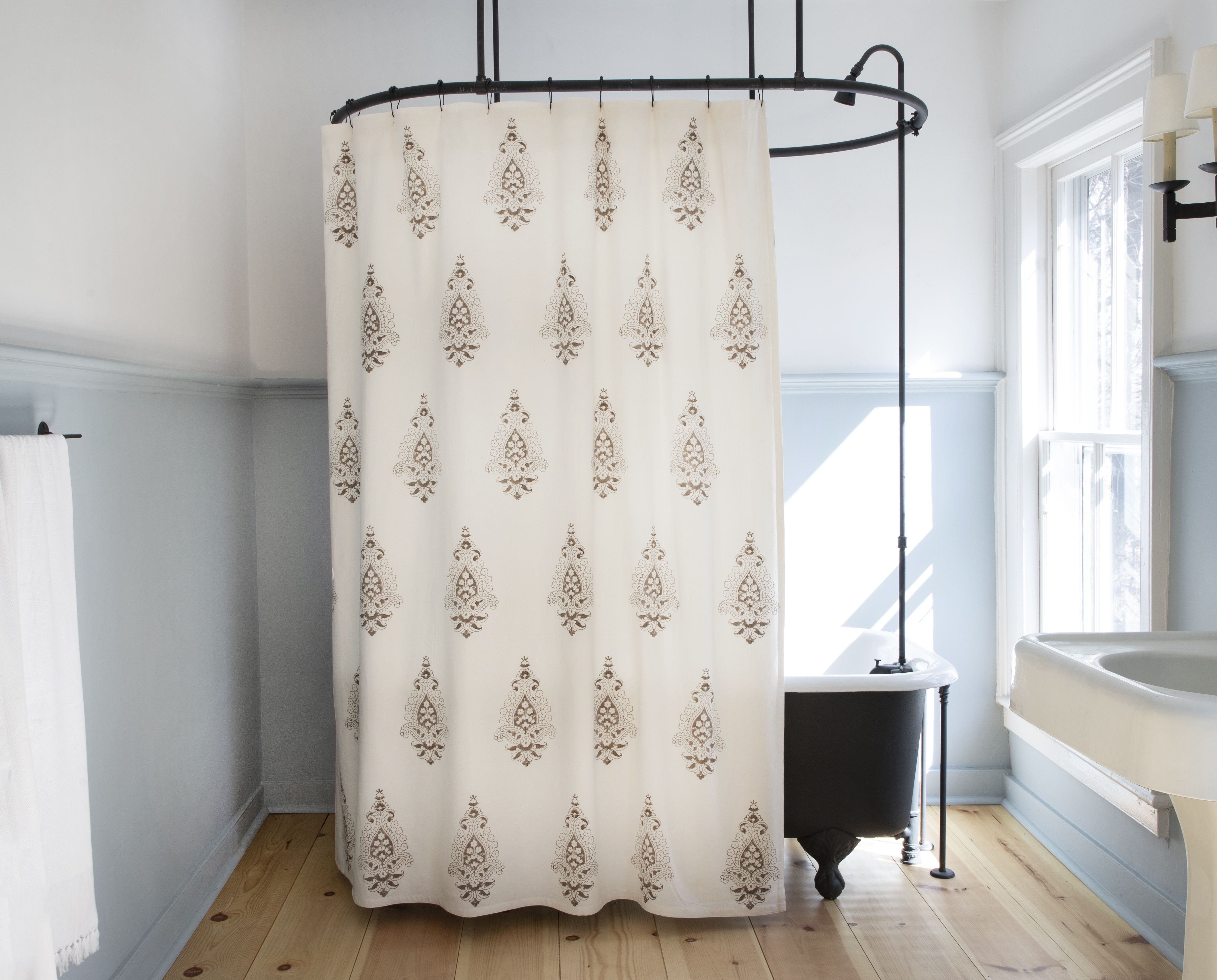 Emma Shower Curtain In French Grey Curtains Panel Curtains Dream Bathrooms