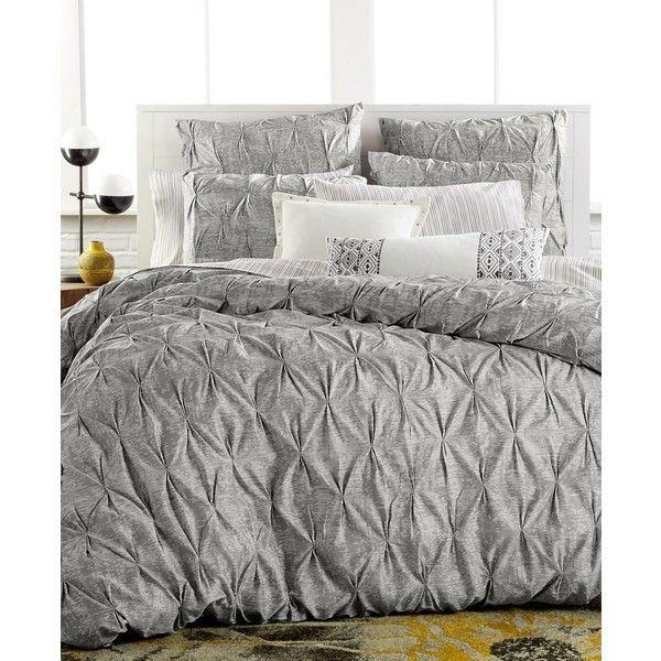 Bar Iii Diamond Pleat Twin Comforter Home Gray Duvet Cover Home Bedroom