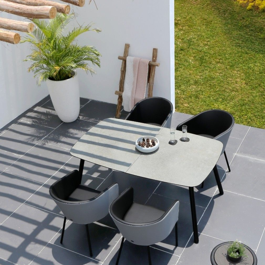 Extendable Outdoor Table With Low Maintenance Hpl Top For Small