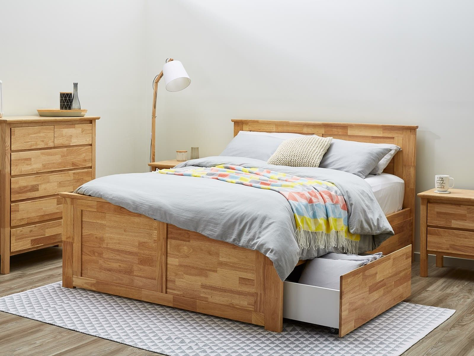 King Size Bedroom Suites With Storage Modern Natural Timber Modern Bed Frame Bed Frame With Storage King Bed Frame