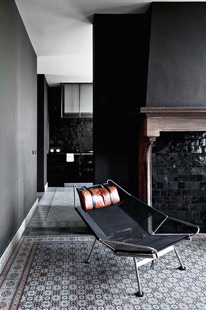 Keltainen talo rannalla haus home inspiration m bel innenarchitektur und haus - Schwarze fliesen wohnzimmer ...