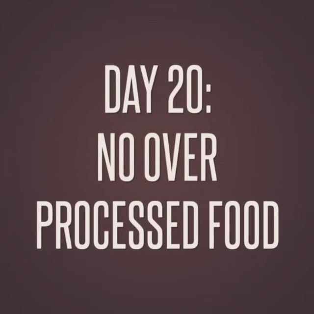 For tomorrow's task on Day 20 of our #SummerMotivation challenge we want to see how you can eliminate processed foods. Can you make your own pizza instead of buying a frozen one? Is there an alternative to one of your favorite protein bars that has 15 ingredients that you can't pronounce? When looking for food that is not overly processed, stick with this simple rule – if you don't know an ingredient then don't eat it! #knowyourfood #betteryou #realfood