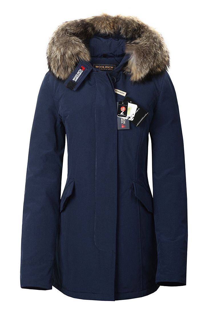 Womens Blue Parka Coat