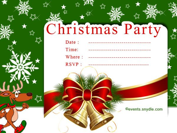 Christmas Invitation Cards Christmas invitation card