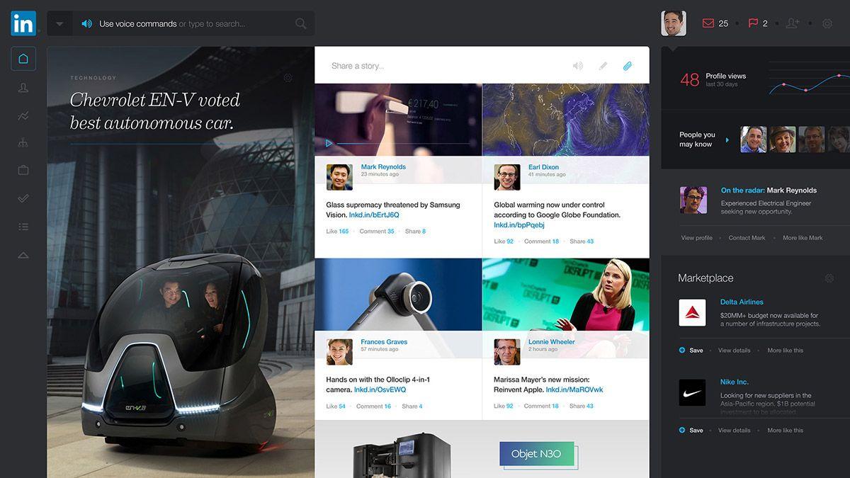 LinkedIn Redesign Concept on Web Design Served