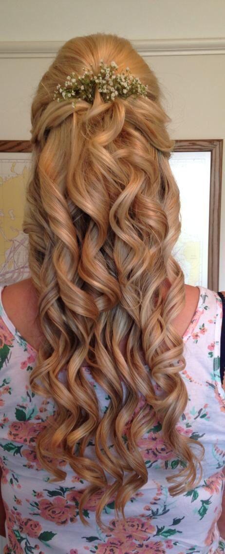 Bridesmaid hair with gypsophila. | My wedding | Pinterest ...