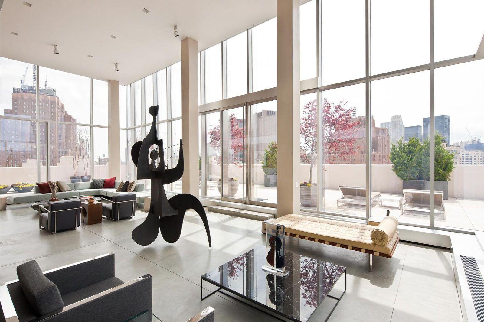 Tribeca duplex skyloft 2 penthouses pinterest