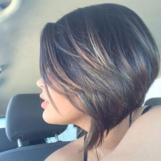 Curtos on pinterest luzes em cabelos short hair and highlights