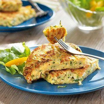 Zucchinipfannkuchen mit Schafskäse | Rețetă