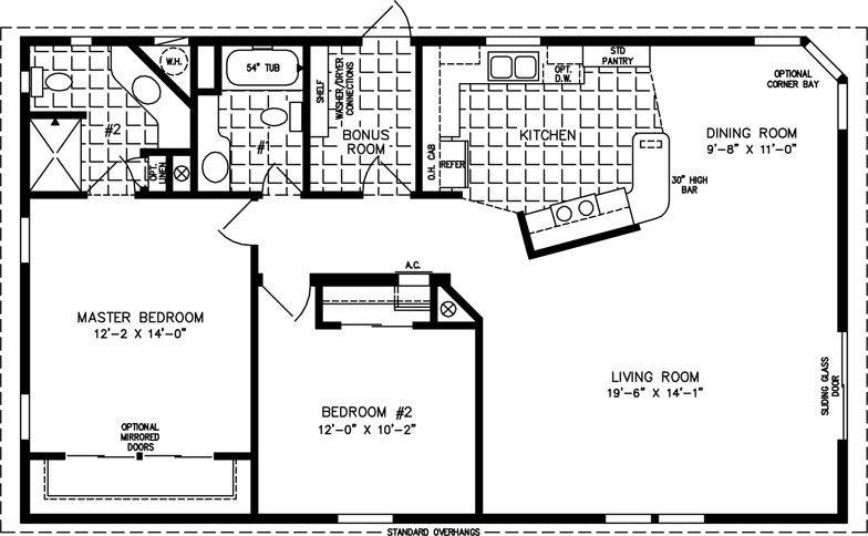 The Tnr 2453b Manufactured Home Floor Plan Jacobsen Homes Retirement Pinterest House