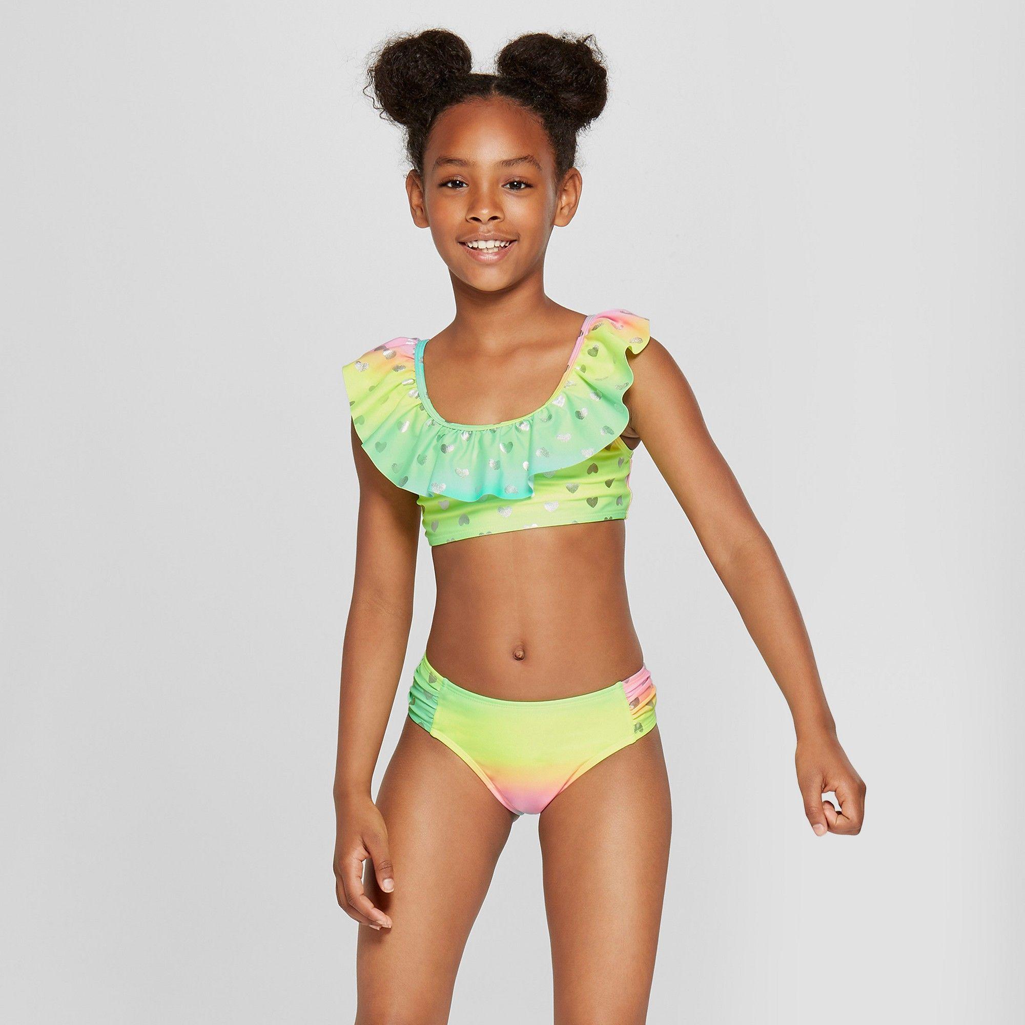 16e7e1d852 Girls  Be Mine Bikini Set - Cat   Jack Aqua XL