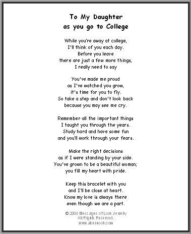 Graduation Poems For Your Daughter