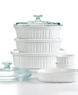 French White 10 Pc Bakeware Set Created For Macy S With Images