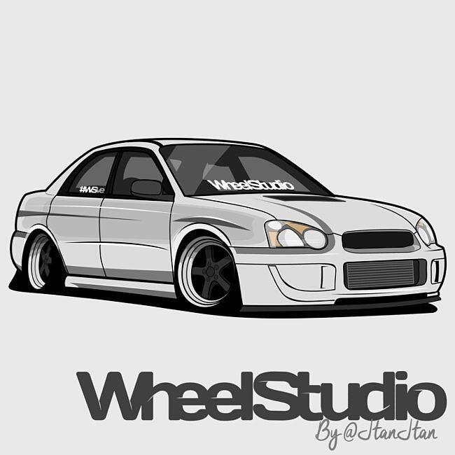 Car Drawings: #Subaru @JtanJtan #inkscape #Gimp #WSve