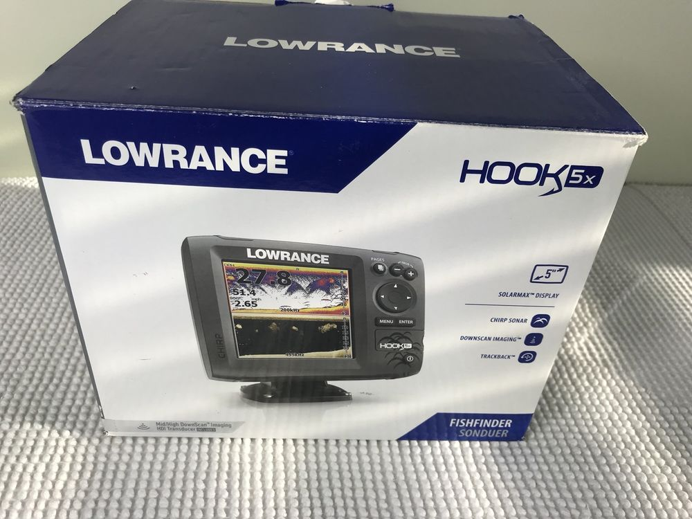 LOWRANCE Hook-5X CHIRP Fishfinder with Transducer | Ebay | eBay