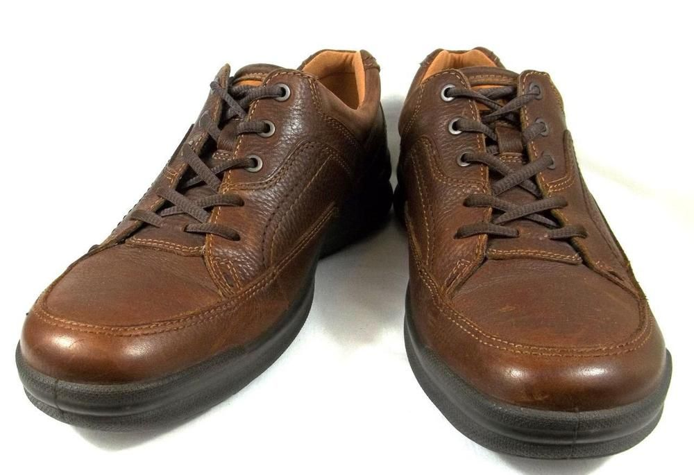 Ecco Shoes Mens Brown Leather Lace Up Oxfords Size U.S. 11