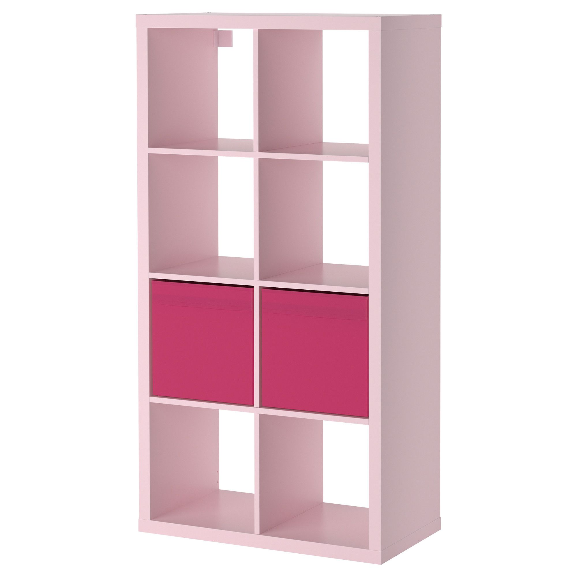 KALLAXDR NA Shelving unit with 2 inserts light pink IKEA – Pink Bookcase Ikea