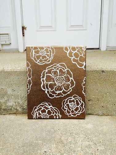 Bronze Floral Canvas. by ReflectiveFlair on Etsy