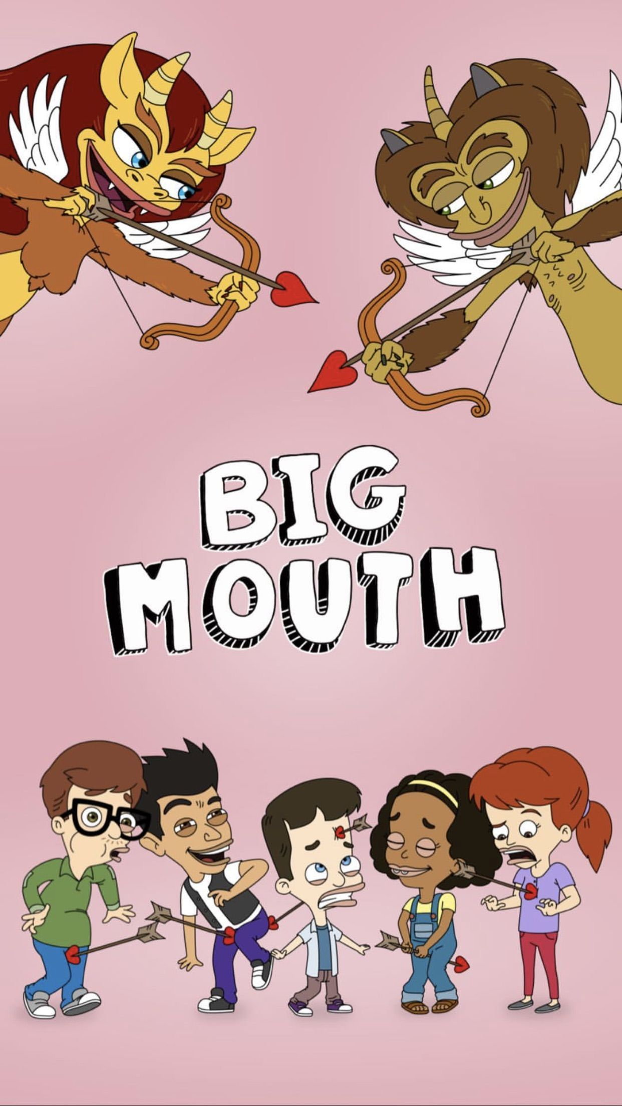 Big Mouth Show On Netflix Wallpaper Big Mouth Mouth Drawing Funny Phone Wallpaper