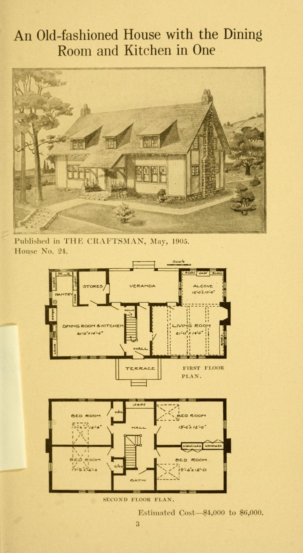 Twenty Four Craftsman Houses With Floor Plans Stickley Gustav 1858 1942 Free Download Borrow Vintage House Plans Floor Plans Architectural Floor Plans