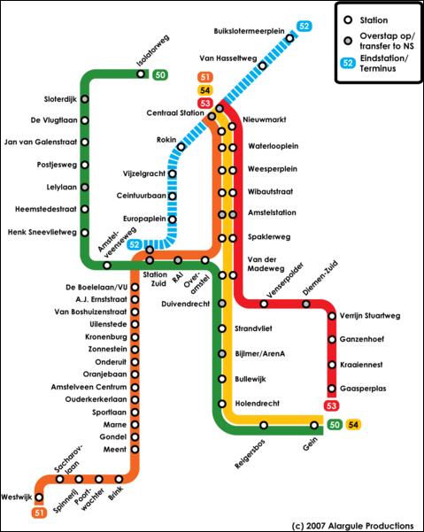Amsterdam Metro Metro Maps of the World Pinterest Subway map