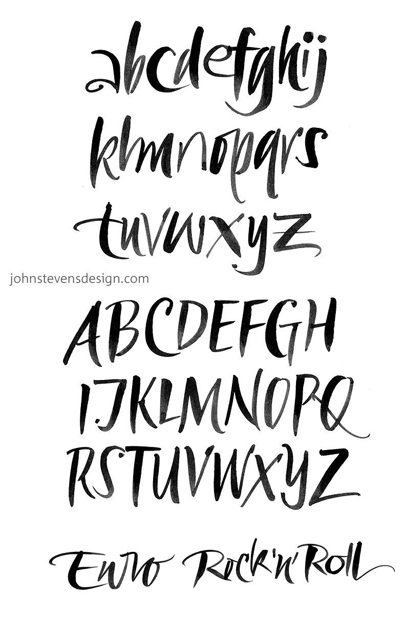 A free download from John Stevens, calligrapher to the