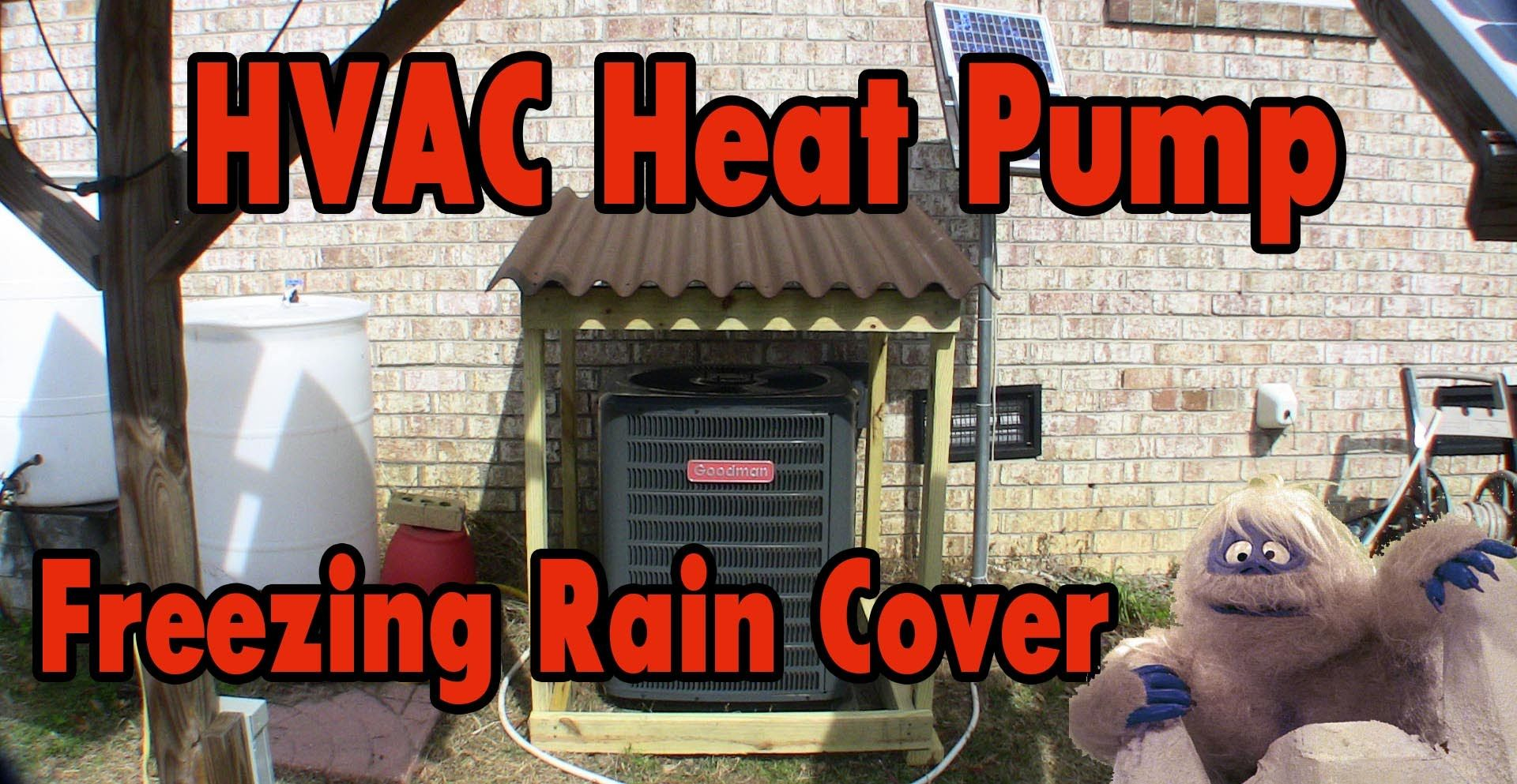 Image result for home built protector for heat pump in