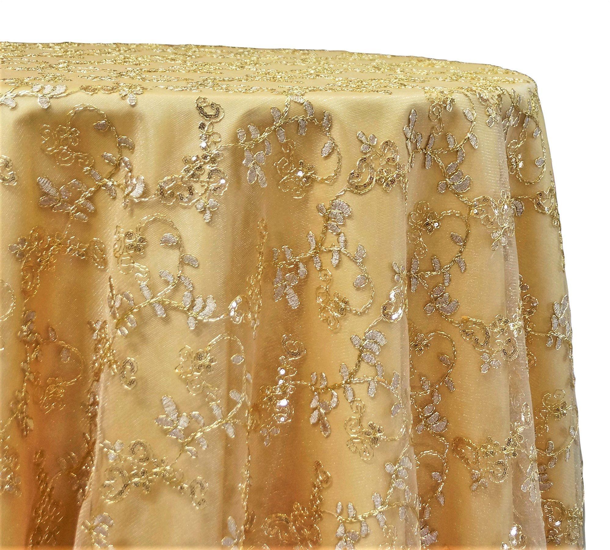 Basil Leaf Embroidery Tablecloths Overlays