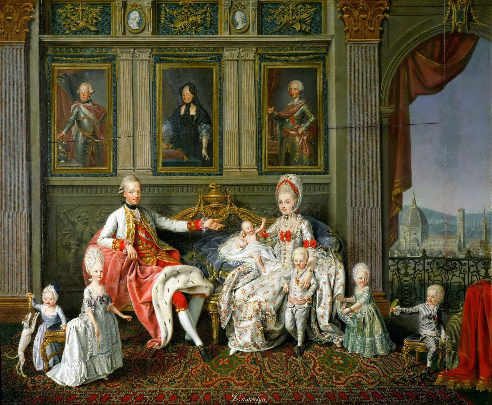 Archduke Leopold And Family Art Kunsthistorisches Museum Painting